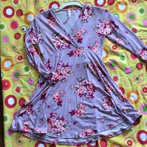 Beautiful floral long sleeve tunic